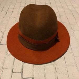 Nordstrom's two tone hat!  Brown and burnt orange